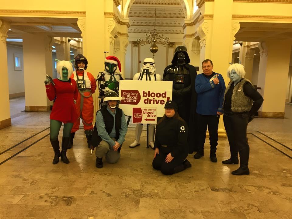 Members of the 501st Legion NE Garrison, Firaxan Clan, and Alderaan Base in attendance.