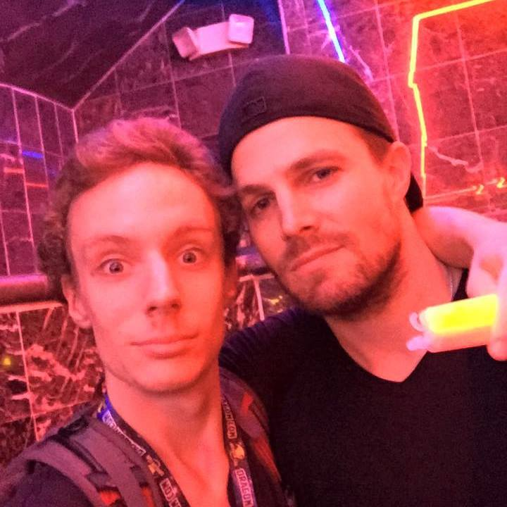 Thian with Stephen Amell